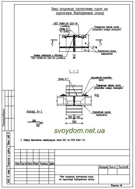 Скачать узлы строительных конструкций в формате dwg.